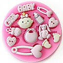Baby Girl Fondant Cake Chocolate Resin Clay Candy Silicone Mold,L8.7cm*W8.7cm*H1cm