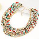 europäischen Stil mehrschichtige Perlen Strang Halskette