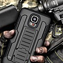 Strap Clamp Drop Resistance Armor Protective Jacket with Stand and Clip for Samsung Galaxy S5 Mini
