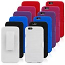 Silicone Cover with Back Clip for iPhone 6 (Assorted Colors)