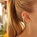 European Style Personality Leaves Metal Tassel Earrings(1PC)