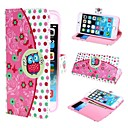 Cute Owl and Polka Dot PU Leather Case with Stand and Card Slot for iPhone 6 Plus