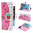 schattig uil en polka dot pu lederen tas met standaard en kaartsleuf voor iPhone 6 plus