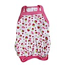 Lovely Strawberry Pattern 100% Cotton Dress for Dogs (Pink XS-L)