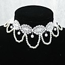 Handmade Elegant Sweet Lolita White Pearl Chain Necklace