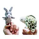 2 개 토끼와 거북이 이야기 동물 봉제 손가락 인형 아이 소품 이야기