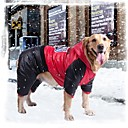 Red / Yellow / Orange Waterproof Cotton / Terylene Coats For Dogs