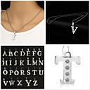 Buy Necklace Pendant Necklaces Jewelry Party Daily Casual Initial Alloy Gift Silver