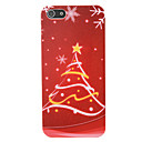 Star Christmas Tree Pattern PC Back Cover for iPhone 5/5S