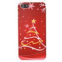 pc stella albero di Natale modello della copertura posteriore per il iphone 5 / 5s