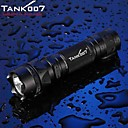 Tank007 LED Flashlights / Handheld Flashlights 5 Mode 500 Lumens 18650 / 16340Waterproof / Rechargeable / Impact Resistant / Nonslip grip