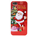 Santa Claus and Christmas Tree Pattern PC Back Cover for iPhone 5/5S