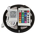 5M 300X3528 RGB LED Strip Light with 24Key Remote Controller (DC12V) without Power supply