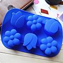 luumu kukka tulppaani muoto kakkuvuoka jään hyytelö suklaata hometta, silikoni 26,5 × 17,4 × 3 cm: n (10,4 × 6,9 × 1,2 tuumaa)