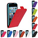 Flip-Open Up Horse Grain PU Leather Full Body Case for iPhone 5C (Assorted Colors)