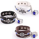 Black Butler Faustian Contract Symbol PU Leather Cosplay Bracelet with Ring
