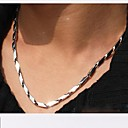 Buy 4.0mm*55cm European Rhombus Titanium Steel Chain Necklace(Silver) (1 Pc) Jewelry Christmas Gifts