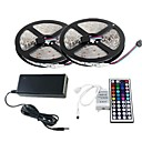 10M RGB LED Strip Light 300 3528 SMD and 44Key Remote Controller and 6A EU AU US Power Supply (AC110-240V)