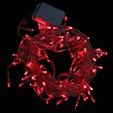 10M 9.6W Christmas Flash 100-LED Red Light Strip Light Lamp (EU Plug , AC 220V)