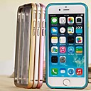 DF Aluminum Metal Bumper Frame with Transparent PC Back Cover Case for iPhone 6 (Assorted Colors)