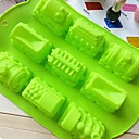 Train Shape Cake Mold Ice Jelly Chocolate Mold,Silicone 35×25×4 CM(13.8×9.8×1.6 INCH)