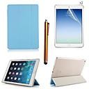 palttina pu nahka koko kehon tapauksessa kosketuskynällä ja suojakalvo 2 kpl iPad ilma 2 / iPad 6 (valikoituja värejä)