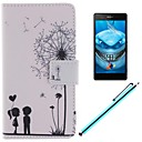 The Dandelion Lover Design PU Leather Full Body Case with Screen Protector, Stylus and Stand for Sony Xperia M2