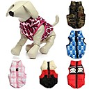 Warm Cotton Padded Vest Jacket Puppy Harness Soft Coat for Pets Dogs (Assorted Sizes and Colors)