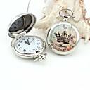 bolsillo personalizado patrón de la corona imperial reloj cordones metálicos esmalte plata
