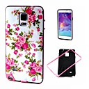 Buy 2-in-1 Pink Rose Peony Pattern TPU Back Cover PC Bumper Shockproof Soft Case Samsung Galaxy Note4 N910c