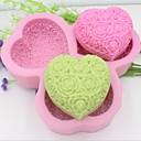 Heart Shaped Rose Flower Fondant Cake Chocolate Silicone Mold Cake Decoration Tools,L14.5cm*W14.5cm*H3cm