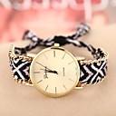 Buy Women's Golden Case Chain Fabric Band Quartz Analog Bracelet Watch (Assorted Colors) Cool Watches Unique