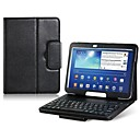 Faux Leather Flip Case with Built-in Bluetooth Keyboard for Samsung Galaxy Tab 3 P5200 10.1