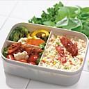 estudiantes tres plazas box lunch, plásticos 16.5 × 8.5 × 8.5 cm (6.5 × 3.3 × 3.3 pulgadas) de color aleatorio