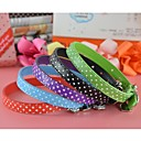 Buy Polka Pu Leather Collar Charm Dogs Pets(assorted colors,size)