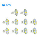 10 pcs GU4(MR11) 6W 12 SMD 5730 570 LM Warm White / Cool White MR11 LED Spotlight DC 12 V