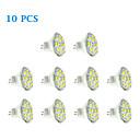 Spot LED Blanc Chaud / Blanc Froid 10 pièces MR11 GU4(MR11) 6W 12 SMD 5730 570 LM DC 12 V