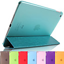 DSB® Crazy Horse Grain PU Leather with Candy Color Ultra Thin Smart Full Body Case for iPad Air