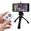 Camera Bluetooth Self-timer Remote Shutter Controller +Holder +Mini Tripod for iPhone and Android Phones(Assorted Color)