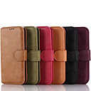 Dull Polish Genuine Leather Full Body Cases with Stand and Slot Card for Samsung Galaxy S6 (Assorted Color)