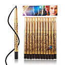 M0127 12Pcs Leopard Print Waterproof Black Eyeliner Pencil Kit