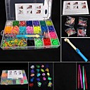 BaoGuang®Fashion Loom Set (4200pcs Rubber Bands,4 Package Clips , 1 Looms ,4 Hook+1Box)