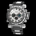 Buy Men's Big Size Steel Case Military Watch Japanese Quartz Analog-Digital Calendar/Chronograph/Water Resistant/Alarm Cool Unique