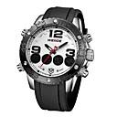 Men's WEIDE WH-3405 Luxury PU Leather Strap Quartz & Digital LCD Back Light Military Sport Wristwatch (Assorted Color)