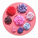 Eight Different Pattern Size Roses Flower Fondant Cake Molds Chocolate Mould For The Kitchen Baking Cake Tool Decoration