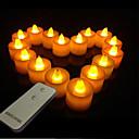 색상 변화하는 낭만적 인 원격 제어 빛 파라핀 전자 촛불을 주도 (1 등&1 원격 제어)