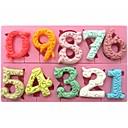 Large Size 0-9 Numbers Shaped  Fondant Cake Chocolate Silicone Mold