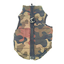 Warm Camouflage Style Cotton-Padded Vest for Pets Dogs (Assorted Sizes)