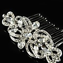 Buy Vintage Wedding Party Bride Flower Austria Crystal Silver Combs Hair Accessories