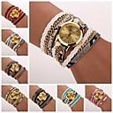 Women's  Leopard Grain Woven  Luxury Brand Quartz Wristwatch Watches C&D-120